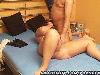 corpulent amateur wife sucks and bonks with cum