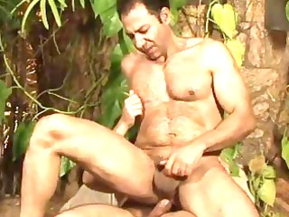 renato arcanjo and francisco bushy mature bear