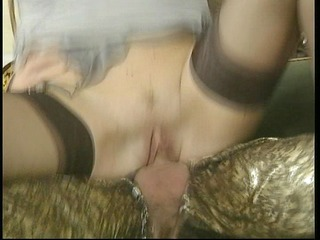 older with large breasts fucks guy with fashion
