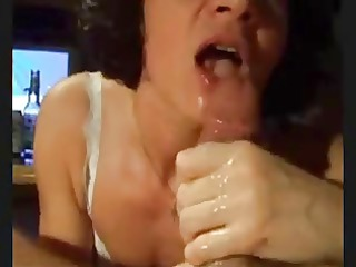 greater amount cum on face
