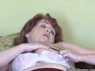 wicked granny has solo sex with sextoy