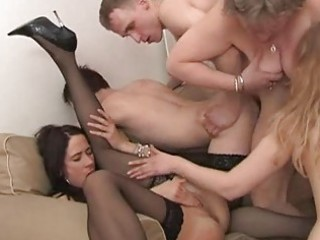 a crowd of mature strumpets fucking with cute