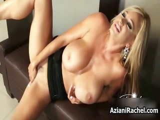 hawt blonde babe gets excited fake penis part5