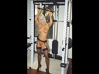picture movie scene fbb blond muscle bodybuilder