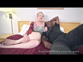 aged lady in creampie interracial movie