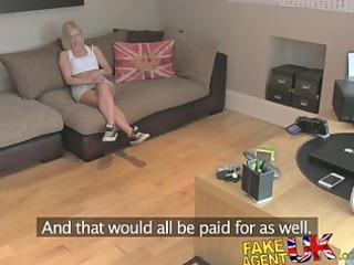 fakeagentuk british blond milf devours cock for