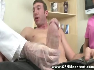 dentist and nurse grab patients wang and jerk it