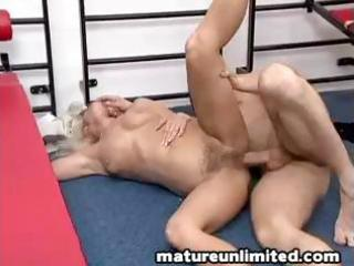 golden-haired granny gets screwed hard all over