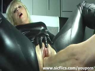 blonde wife violently fisted in her loose vagina