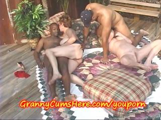 bi raunchy grannies eat cum outdoors