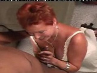 redhead mommy vs darksome dude aged older porn