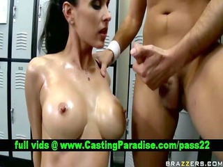 jessica jaymes breasty brunette hair gagging and