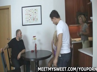 angel fucking with her boyfriends parents