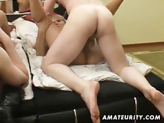 amateur groupsex with 4 chicks and 4 dicks