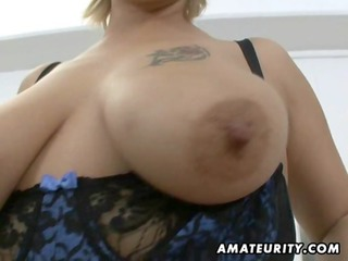 obese amateur milf sucks and copulates with facial