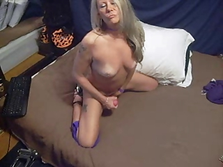 aged playgirl fills her holes with toys