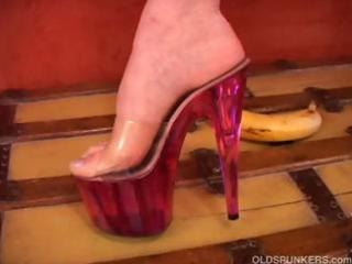 busty milf can high heels