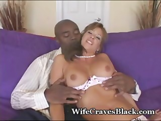 hot busty dark brown loves darksome cock and