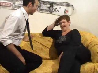 aged large dutch wench gets fingered and fucked