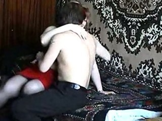 russian aged redhead fucking with a guy