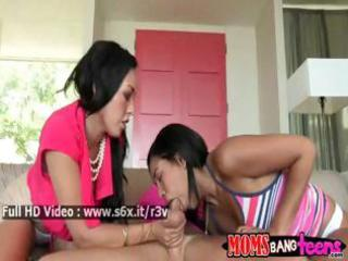 hawt mamma fucks her step daughter and her