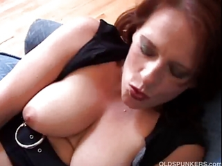 nice-looking aged amateur has big sexy wobblers