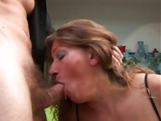 aged acquires her butt fucked and cum on her milk