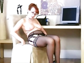 mature in stockings, lingerie and heels
