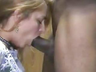 hot blond wife interracial cuckold blowjob