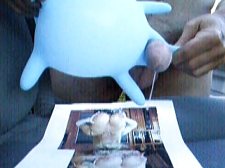 cum wifey with latex glove
