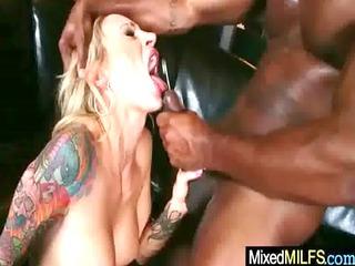 hardcore interracial sex with hawt breasty milf