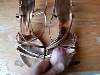 cum on wife shoes
