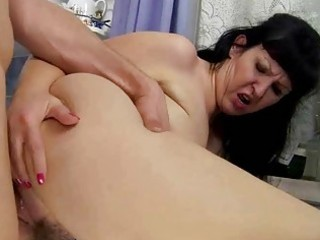 busty bulky grandma fucking with young guy