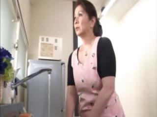 japanese older housewife does an old man and a