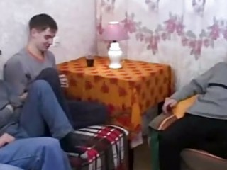 real russian mommy bonks her sons allies