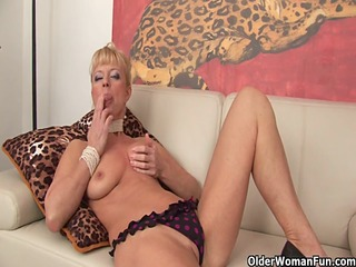 golden-haired granny shows her lustful side