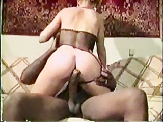 golden-haired milf vintage interracial fuck