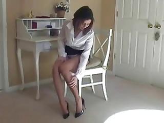 maria hawt hose and high heel tease
