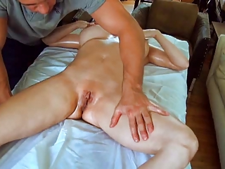 hot mom massaged then pounded