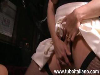 busty italian older lawyer is getting banged by
