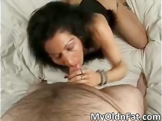 naughty brunette hair milf blows stiff wang part3
