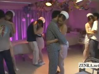 subtitle japanese nurses underware party humping