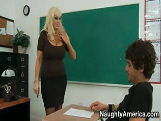 this busty golden-haired mother i of a teacher