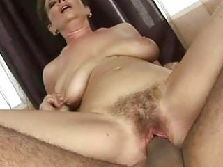 granny receives her hairy pussy drilled