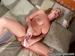 after getting booty spanked slutty blonde part11