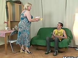 lustful granny seduces her son in law