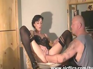 extreme housewife brutally deep fisted in her