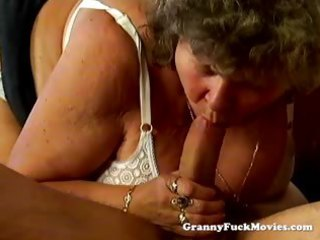 large bulky granny blowing weenie
