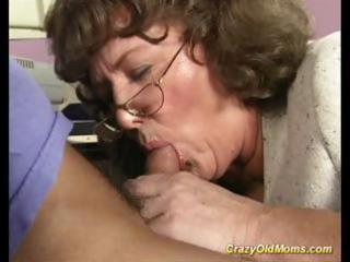 eager old mommy gets large penis