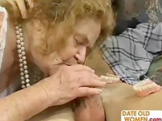 granny gets trio sexual action